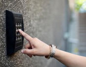 Key pad access control entry systems, Texas