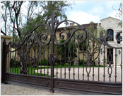 Wrought Iron Gates in Houston, Texas